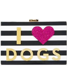 I Heart Dogs & Cats Clutch