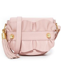 Ruffle Cross Body Saddle Bag