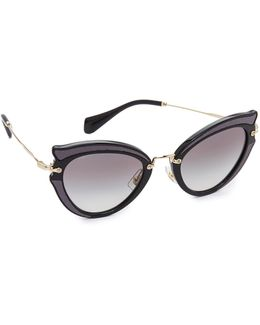 Satin Cat Eye Sunglasses