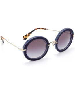 Round Satin Sunglasses