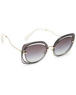Cutout Square Sunglasses
