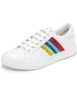 Empire Strass Lace Up Sneakers