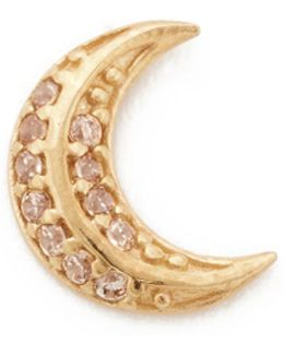 Moon Single Stud Earring