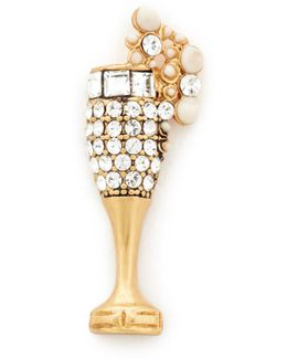 Champagne Flute Pin