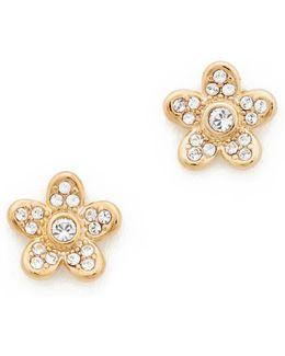 Mj Coin Flower Stud Earrings