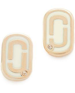 Icon Enamel Stud Earrings
