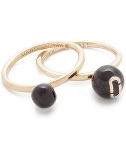 Icon Enamel Ball Ring Set