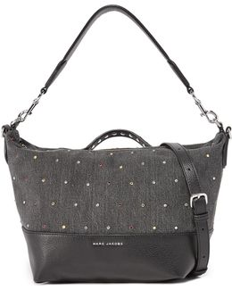 Embellished Grip Satchel