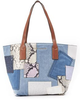Denim Patchwork Wingman Tote