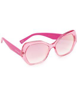 Geometric Mirrored Sunglasses