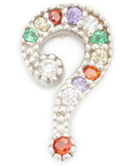 Question Mark Stud Earring