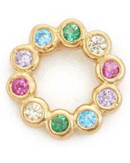 Rainbow Ring Stud Earring