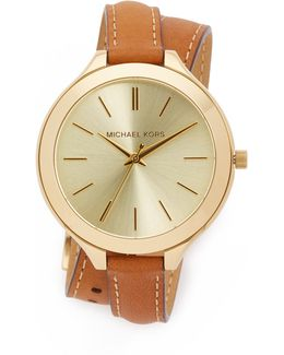 Slim Double Wrap Watch
