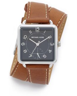 Brenner Leather Wrap Watch