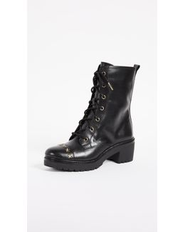 Cody Star Studded Combat Boots