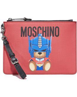 Teddy Bear Transformers Wristlet Clutch Bag