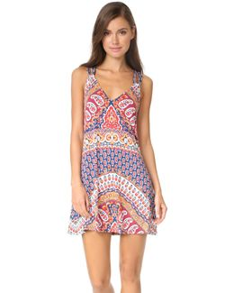 Super Fly Paisley Cover Short Dress