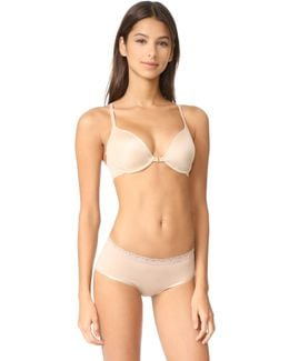 Demure Unlined Front Close Underwire Bra