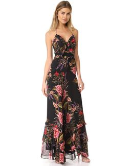 Peony Floral Spiral Jumpsuit