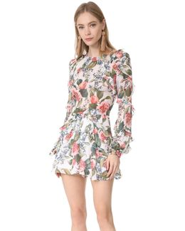 Belle Floral Ruffle Romper