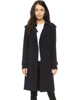 Kamali Kulture Double Breasted Trench Coat