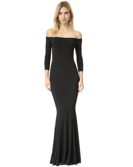 Kamali Kulture Off Shoulder Fishtail Gown