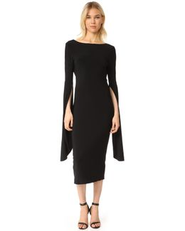 Draped Low Back Dress