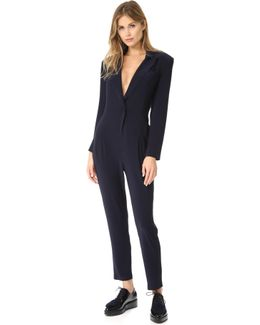 Single Breasted Jumpsuit