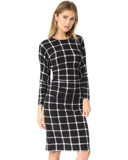 Dolman Shirred Waist Dress