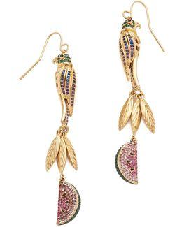 Tropical Linear Drop Earrings