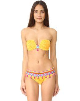 Limoncello Structured Bandeau Bikini Top