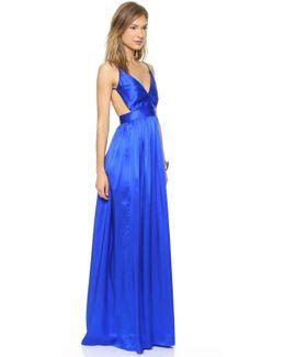 Babs Bibb Silk Maxi Dress