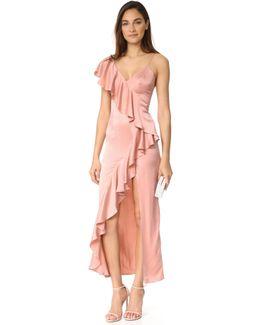 Evita Cascade Ruffle Dress