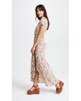 Wild Rose Maxi Wrap Dress