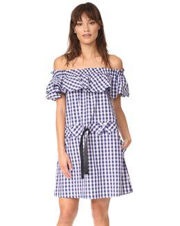 Alicia Ruffle Gingham Dress