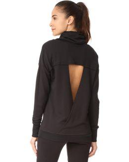 Tulip Back Cowl Neck Sweatshirt