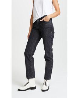 Dip Mid-rise Straight-leg Jeans