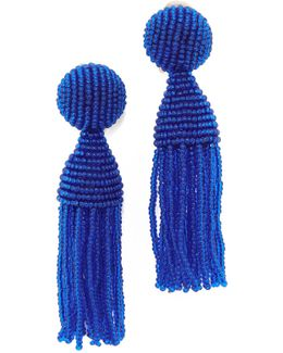 Classic Short Tassel Clip On Earrings