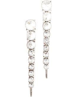 Single Tendril Crystal Earrings