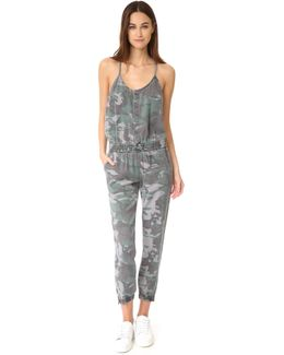 Camo Strappy Jumpsuit