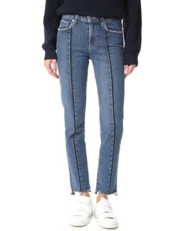 Vintage Julia Jeans With Uneven Hem