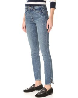 Hoxton Ankle Peg Side Slit Jeans