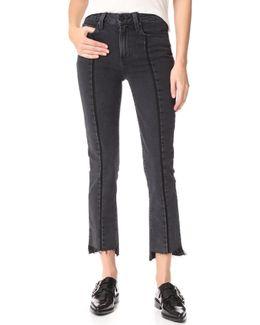Julia Uneven Hem Jeans