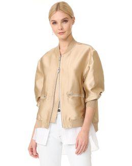 Bomber Jacket With Shirting