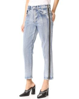 Straight Jeans With Zipper