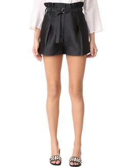 Satin Origami Shorts
