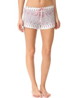 Floral Paisley Pj Shorts