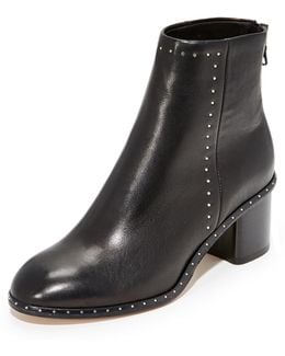Willow Studded Leather Ankle Boots
