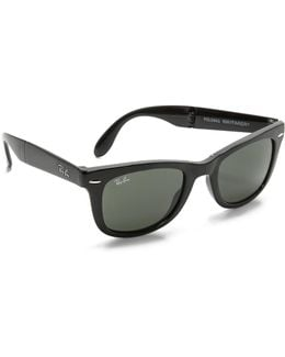 Folding Wayfarer Sunglasses
