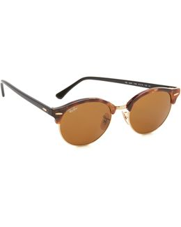 Round Clubmaster Sunglasses
